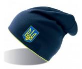 Шапка Atlantis синяя с лого Украины