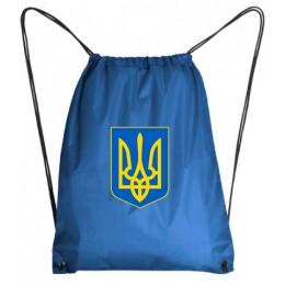 Рюкзак-мешок герб Украина голубой