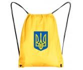 Рюкзак-мешок герб Украина желтый