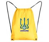 Рюкзак-мешок футбольный герб Украина желтый