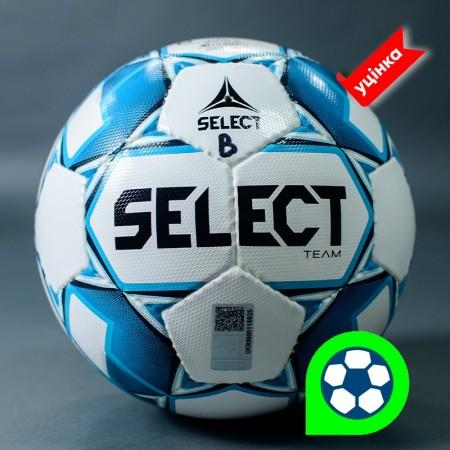Футбольный мяч Select Team размер 5 бело-голубой Уценка