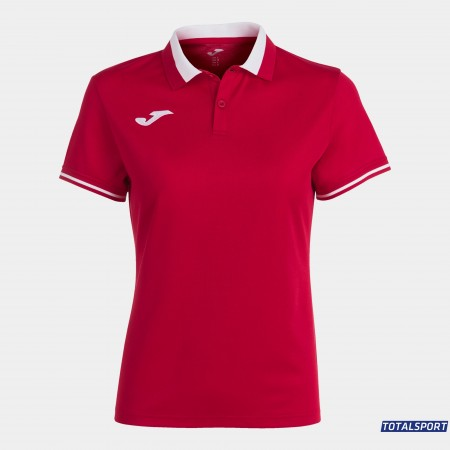 Женская футболка поло Joma 901272.602 POLO CHAMPIONSHIP VI красная