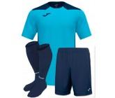 Футбольная форма Joma CHAMPIONSHIP VI(футболка+шорты+гетры) 101822.013 бирюзовый