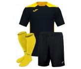 Футбольная форма Joma CHAMPIONSHIP VI(футболка+шорты+гетры) 101822.109 черно-желтая