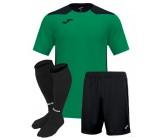 Футбольная форма Joma CHAMPIONSHIP VI(футболка+шорты+гетры) 101822.451 зелено-синяя