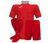 Футбольная форма Joma CHAMPIONSHIP VI(футболка+шорты+гетры) 101822.602 красно-белая