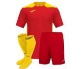 Футбольная форма Joma CHAMPIONSHIP VI(футболка+шорты+гетры) 101822.609 красно-желтая