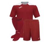 Футбольная форма Joma CHAMPIONSHIP VI(футболка+шорты+гетры) 101822.672 бордово-белая