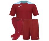 Футбольная форма Joma CHAMPIONSHIP VI(футболка+шорты+гетры) 101822.682 бордово-бирюзовая