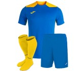 Футбольная форма Joma CHAMPIONSHIP VI(футболка+шорты+гетры) 101822.709 голубо-желтая