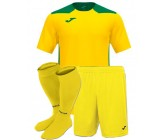 Футбольная форма Joma CHAMPIONSHIP VI(футболка+шорты+гетры) 101822.904 желто-зеленая