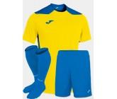 Футбольная форма Joma CHAMPIONSHIP VI(футболка+шорты+гетры) 101822.907 желто-голубая