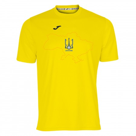В наличии! Футболка сборной Украины Joma желтая 100052.900 с картой Украины