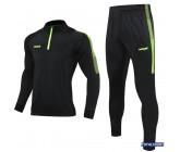 Спортивный костюм Europaw Limber Up 2101 Short zipper черный-салатовый замок 3/4