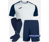 Футбольная форма Joma 101968.203 ACADEMY IV бело-синий  футболка, шорты, гетры