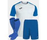 Футбольная форма Joma 101968.207 ACADEMY IV бело-голубой  футболка, шорты, гетры