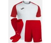 Футбольная форма Joma 101968.206 ACADEMY IV бело-красный  футболка, шорты, гетры