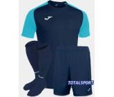 Футбольная форма Joma 101968.342 ACADEMY IV бирюзово-синий  футболка, шорты, гетры
