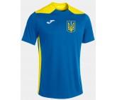 Футболка Joma CHAMPIONSHIP VI голубая 101822.709 классический герб Украины