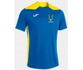 Футболка Joma CHAMPIONSHIP VI голубая 101822.709 футбольный герб Украины