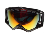 Горнолыжная маска Oakley Crowbar 57-289 SNOW JET BLACK W/ FIRE POLARIZED