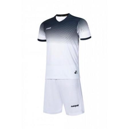 Футбольная форма Europaw 024 бело-т.синяя