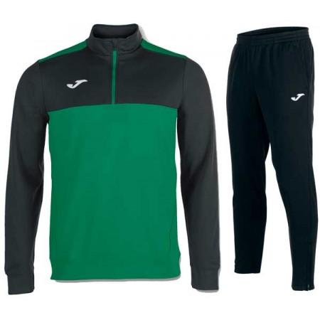 Спортивный костюм JOMA WINNER 100947.401(замок 3/4) черно-зеленый