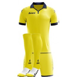Футбольная форма Zeus SCORPION GIALLO/BLU футболка, шорты гетры CALZA ENERGY
