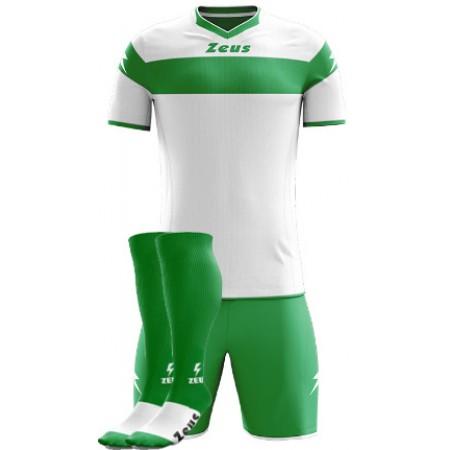 Футбольная форма Zeus Apollo BIANCOVERDE футболка, шорты, гетры CALZA ENERGY