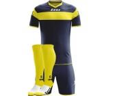 Футбольная форма Zeus Apollo BLU-GIALLO футболка, шорты, гетры CALZA ENERGY Z00173