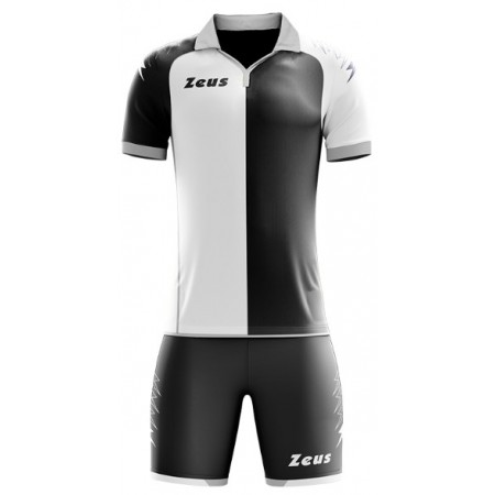 Футбольная форма Zeus KIT GRYFON BIANCO NERO футболка +шорты