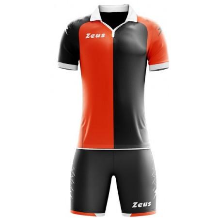 Футбольная форма Zeus KIT GRYFON ARANCIO FLUO/NERO футболка +шорты