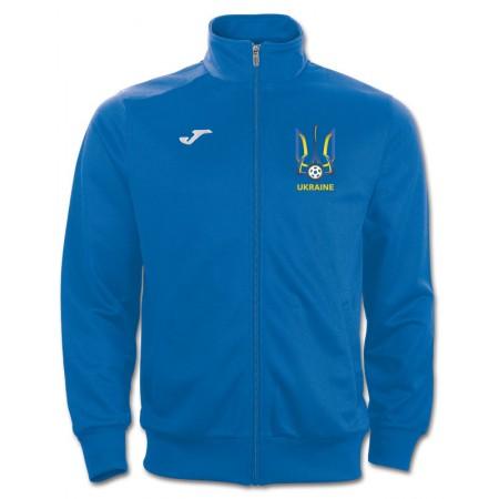 Олимпийка Joma Украина JACKET COMBI 100086.700 голубая