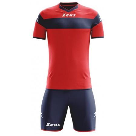 Футбольная форма Zeus KIT APOLLO ROSSO BLU красно-синяя футболка и шорты