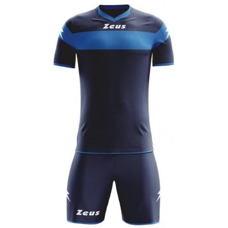 Футбольная форма Zeus KIT APOLLO BLU/ROYAL темно-синяя футболка и шорты Z00175