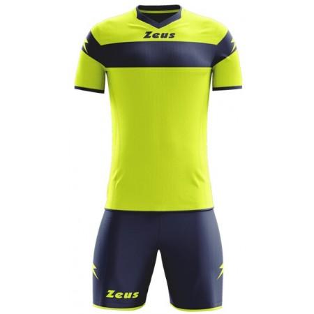Футбольная форма Zeus KIT APOLLO GIALLO FLUO/BLU салатовая футболка и шорты Z00177