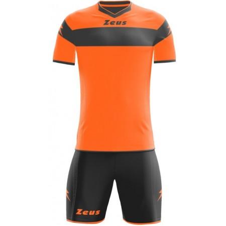 Футбольная форма Zeus KIT APOLLO ARANCIO FLUO/NERO оранжевая футболка и шорты Z00170