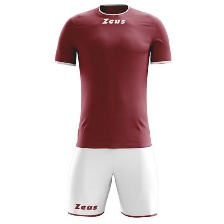 Футбольная форма Zeus KIT STICKER GRANATA BIANCO футболка и шорты