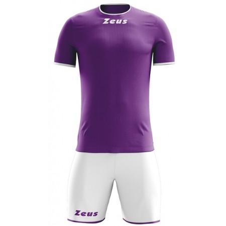 Футбольная форма Zeus KIT STICKER ARANCIO VIOLA/BIANCO футболка и шорты