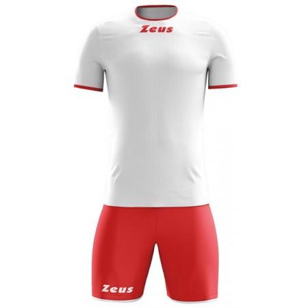 Футбольная форма Zeus KIT STICKER BIANCO ROSSO футболка и шорты