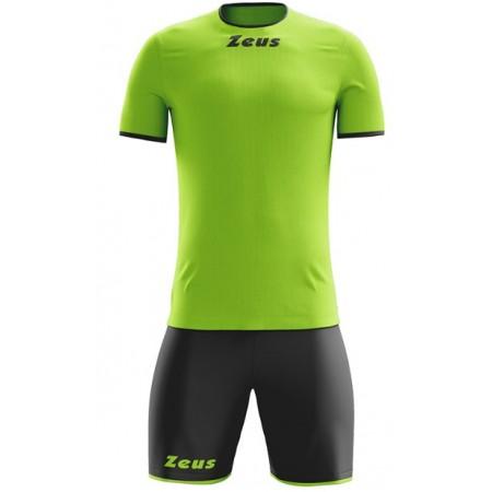 Футбольная форма Zeus KIT STICKER VERDEFLOU/NERO футболка +шорты