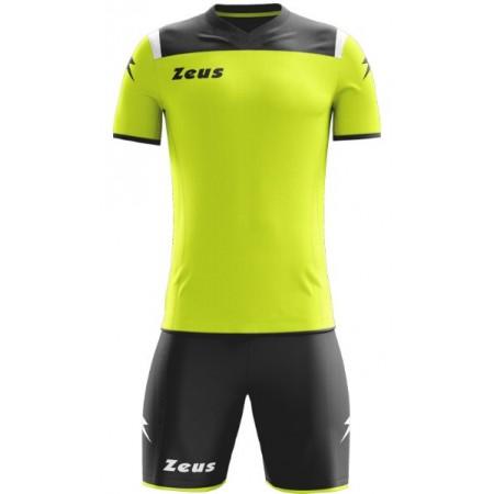 Футбольная форма Zeus KIT VESUVIO NERO/GIALLOFLUO футболка и шорты Z01078