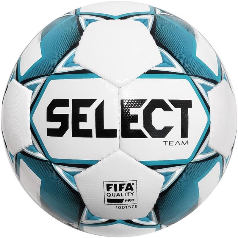 Футбольный мяч Select Team FIFA размер 5 бело-голубой