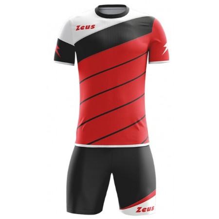 Футбольная форма Zeus KIT LYBRA UOMO ROSSO NERO футболка и шорты