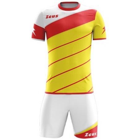 Футбольная форма Zeus KIT LYBRA UOMO GIALLO/ROSSO футболка и шорты