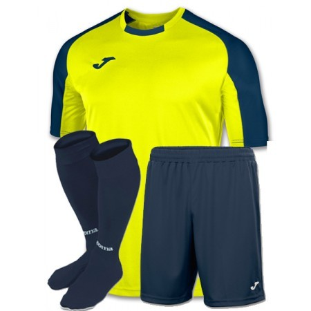 Футбольная форма Joma ESSENTIAL 101105.063 салатовая (футболка, шорты, гетры)