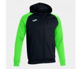 Олимпийка с капюшоном Joma ACADEMY IV 101967.117 черно-зеленая