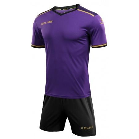Комплект футбольньої форми  фіолетово-чорний к/р дитячий SEGOVIA JR 3873001.9510 Kelme