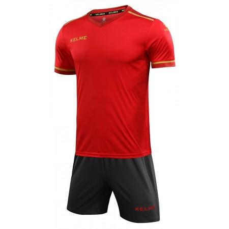 Комплект футбольньої форми  червоно-сірий к/р дитячий SEGOVIA JR 3873001.9667 Kelme