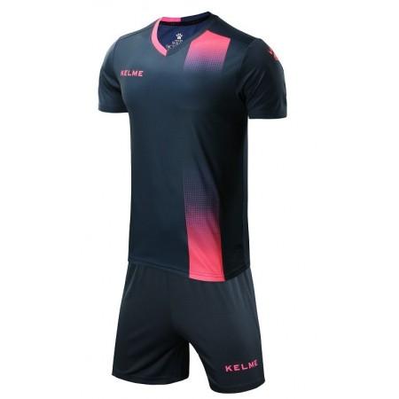 Комплект футбольньої форми   т.синьо-рожевий к/р дитячий    ALICANTE JR  3883020.9420 Kelme